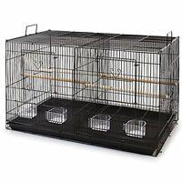 Large Aviary Breeding Bird Finch Parakeet Finch Flight Cage With Divider Blk 286
