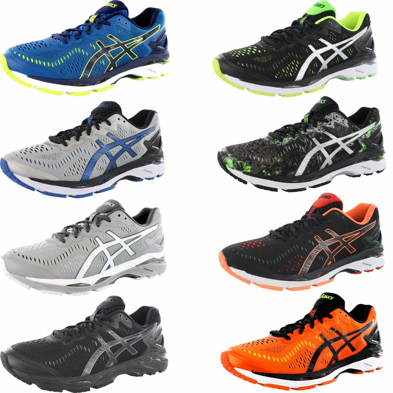 ASICS Gel-kayano 23 Mens Gray Mesh Athletic Lace up Running Shoes 9 ... f18b15734af4b