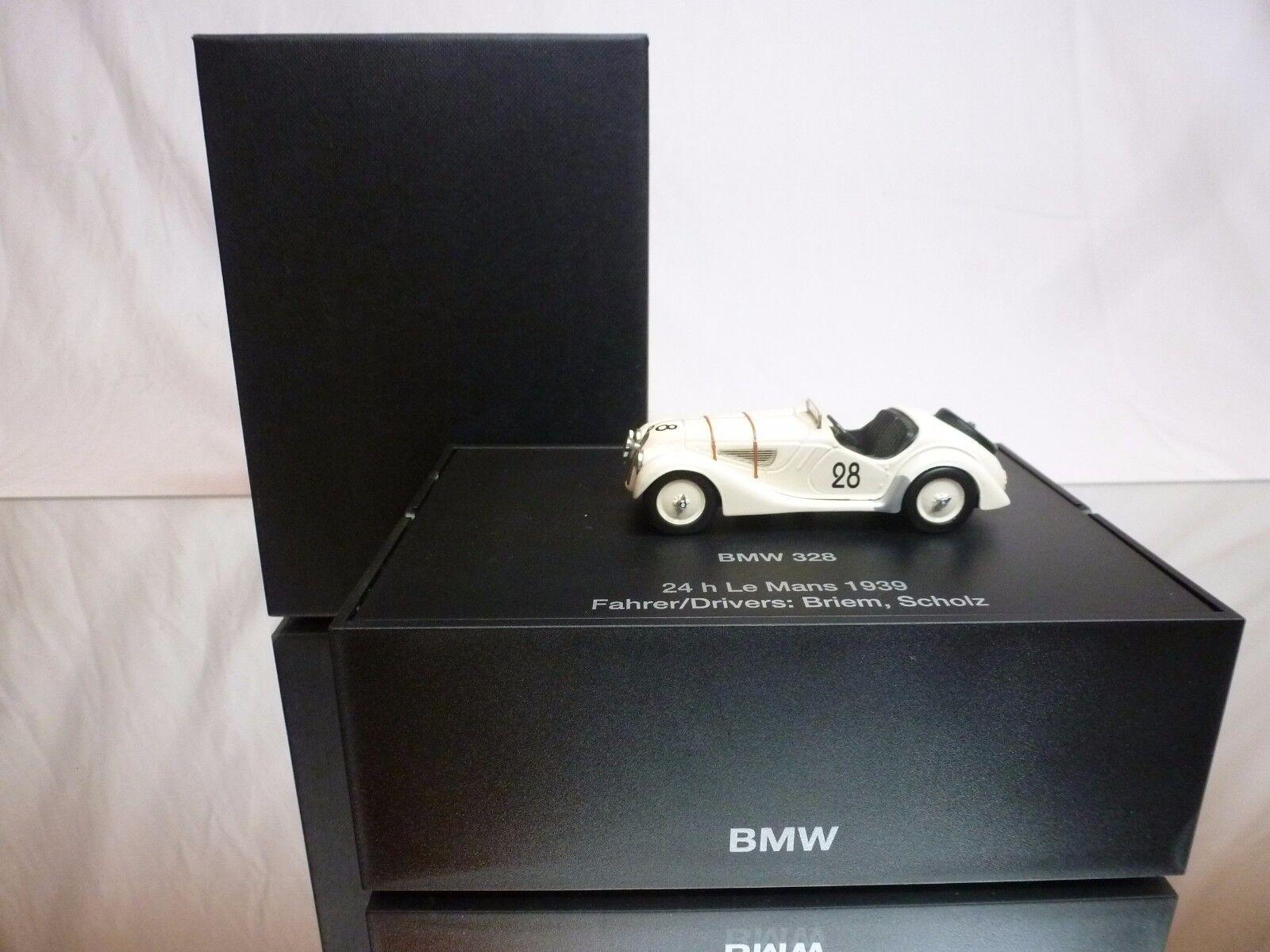 SCHUCO  BMW 328 24h LE MANS 1939 - BRIEM SCHOLZ 1 43 - EXCELLENT IN DEALER BOX