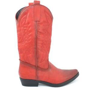 nuovo prodotto d69fa 2438f stivali texani rossi phptostart.it