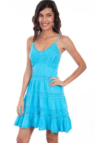 Scully Womens White 100/% Cotton Crochet Sleeveless Dress PSL-173
