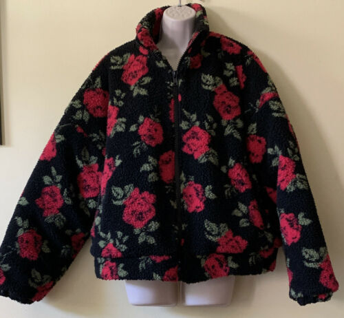 Size 2X Forever 21 Plus Faux Sherpa Fleece Rose P… - image 1
