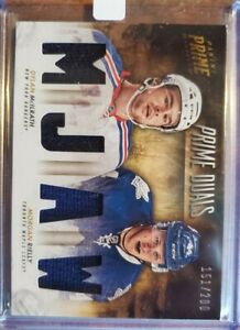 2013-14-PANINI-PRIME-DUALS-JERSEY-PATCH-MORGAN-RIELLY-DYLAN-MCILRATH-200-NEW