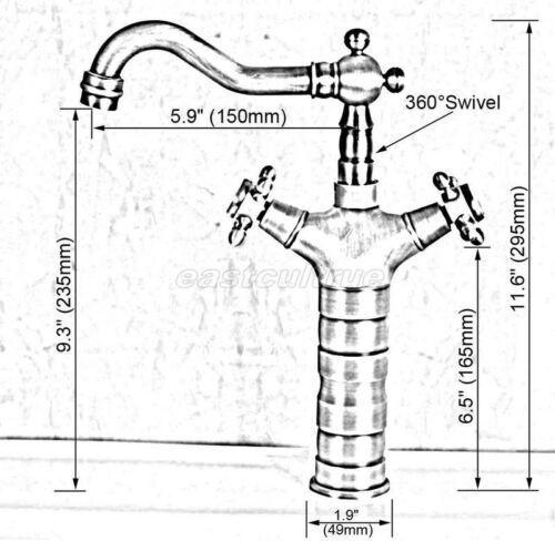 Antique Red Copper Kitchen Wet Bar Bathroom Vessel Sink Faucet Mixer Tap erg056