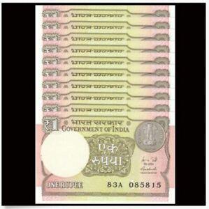 India-1-Rupee-10pcs-Running-Number-UNC-1