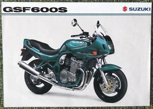Suzuki Gsf 600 S Bandit Motorcycle Sales Sheet Circa 1998 Ebay