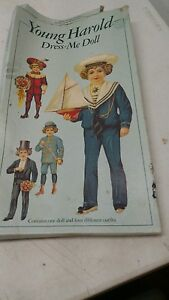 Paper Masters Young Harold Dress Me Doll Paperdoll From The UK Vintage NOS