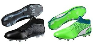 New-Men-039-s-Puma-ONE-18-1-FG-Soccer-Cleats-Size-7-14-Black-or-Green-104527