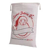 Large Vintage Rustic Hessian Christmas Santa Sack Stocking Jute Xmas Gift Bag-6A