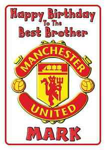 Image Is Loading Football Personalised A5 Birthday Card Dad Son Brother