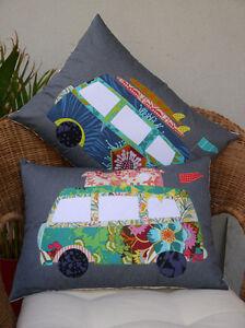 Free Campin Cushion Pattern Claire Turpin Combi Van Applique