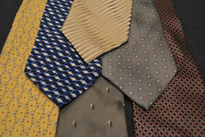 Lot-of-6-PERRY-ELLIS-Neckties-incredibly-cheap-price-Grab-it-D7