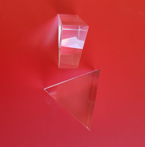 Polished Acrylic blocks as lenses for optical experiments and light refraction