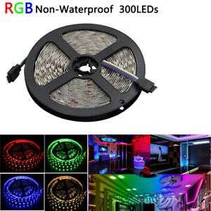 16-4FT-RGB-Changing-Color-Led-Strip-Lights-SMD5050-300led-Nonwaterproof-Flexible