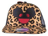 Deadmau5 Men's Black Gold Leopard Cheetah Flock Print Mesh Baseball Snapback Hat