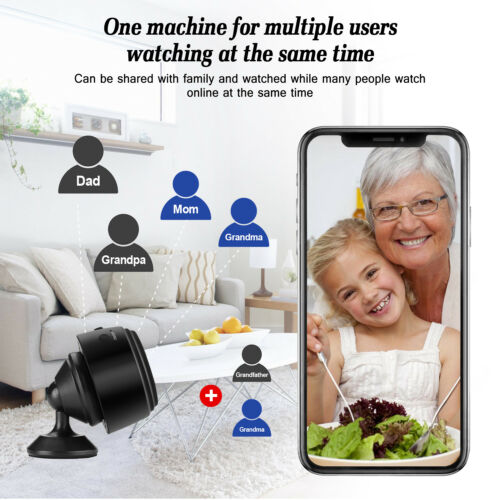 "Mini 1.4/""Spy Camera Wireless Wifi IP 1080P DVR Night Vision Remote Home Security"