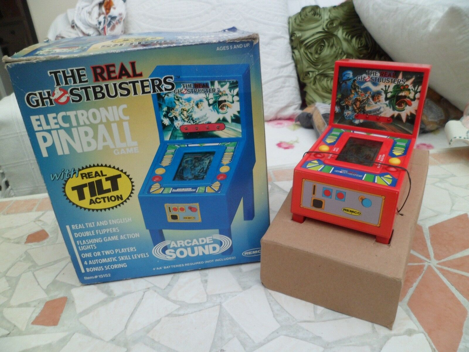1989 The Real Ghostbusters  Electronic Pinball Game, boxed RARE,REMCO Arcade toy