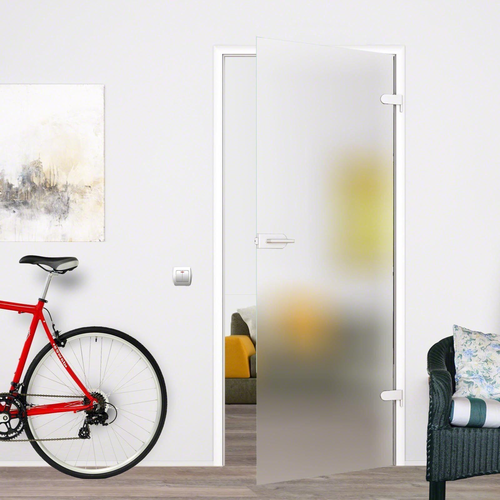 Glastür Zimmertür Glas Tür satiniert  959x1972 S959SSD mit Beschlag