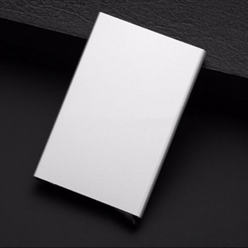 Mens Womens Metal ID Credit Card Holder RFID Protector Aluminum Wallet Card Case