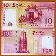 Macao / Macau, 10 Patacas, 2013, Bank of China, P-108 (108b), UNC