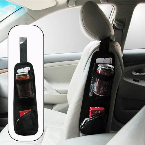 Car Side Seat Pocket Organiser Tidy Accessory Storage Collector Hang Bag Pouch