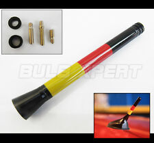 2002-2015 MINI COOPER  5'' GERMAN FLAG COLORWAY SCREW-ON SHORT SPORT ANTENNA