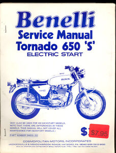 BENELLI-650S-TORNADO-MOTORCYCLE-with-ELECTRIC-START-SERVICE-MANUAL