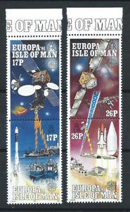 Ile-de-Man-N-498-501-MNH-1991-l-039-Europe-et-l-039-Espace-034-Europa-034