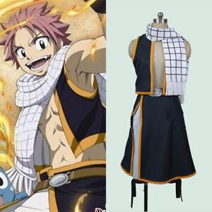 Fairy-Tail-Natsu-Dragneel-Cosplay-Top-Skirt-Scarf-Full-Set-Halloween-Costume
