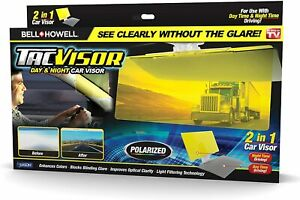 Bell + Howell Tac Visor Day & Night 2-In-1 Polarized Anti-Glare Car Visor