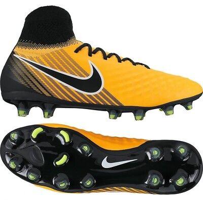 Pirata bala Botánico  Nike Magista Orden II FG Laser Orange Black White Volt Soccer ...