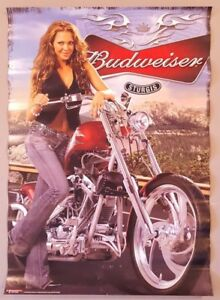 Vintage Beer Poster Advertising Ad Bud Budweiser Sturgis 2008 27 x 19 Inches d