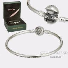 b615a3d4a Authentic Pandora Silver Heart of Winter Bangle 6.7