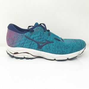Mizuno-Womens-Wave-Inspire-16-411171-EBME-Blue-Running-Shoes-Lace-Up-Size-10