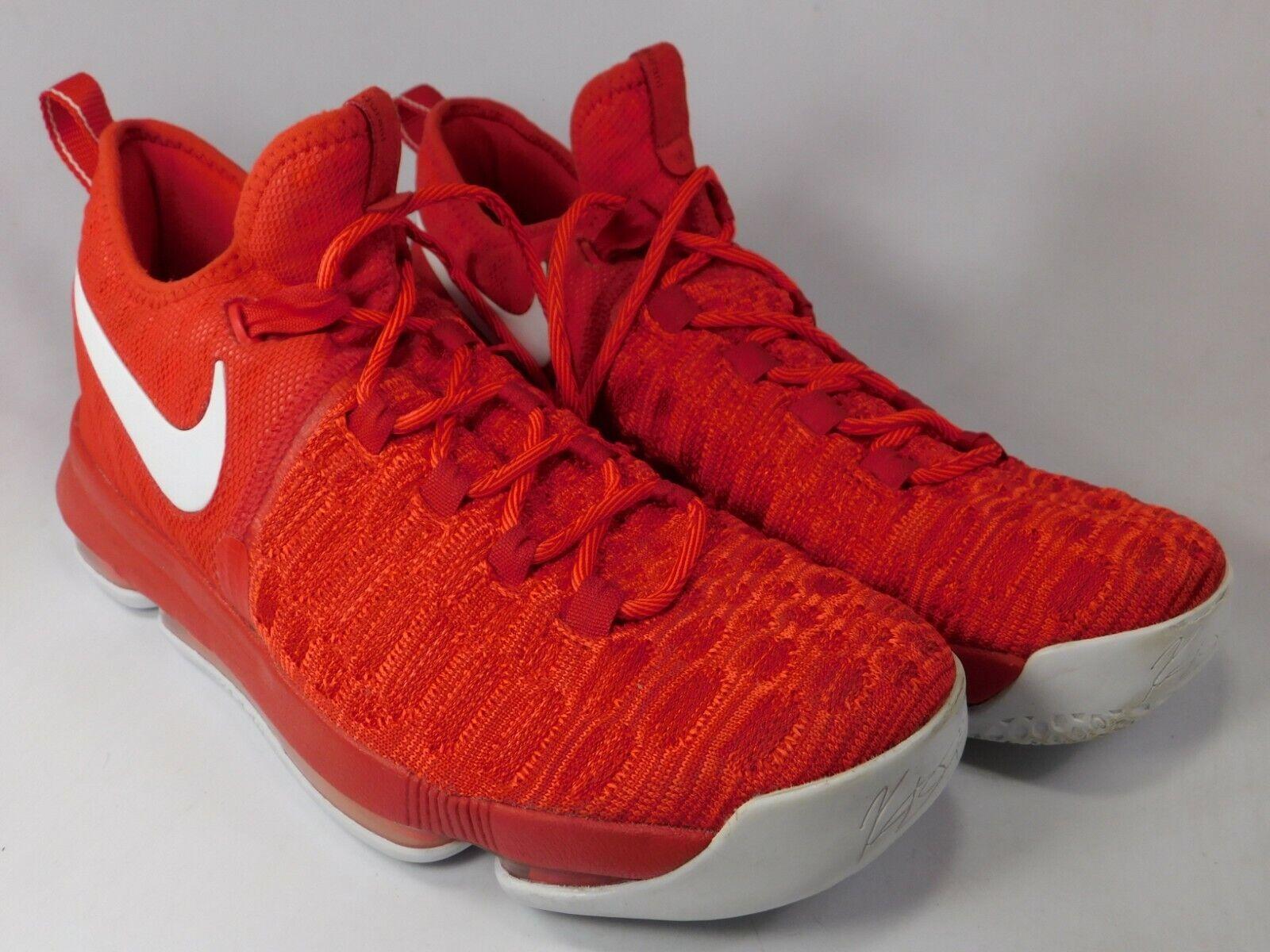 Nike Zoom KD 9 IX Size US 10.5 M (D) EU 44.5 Men's Basketball shoes Red 843392
