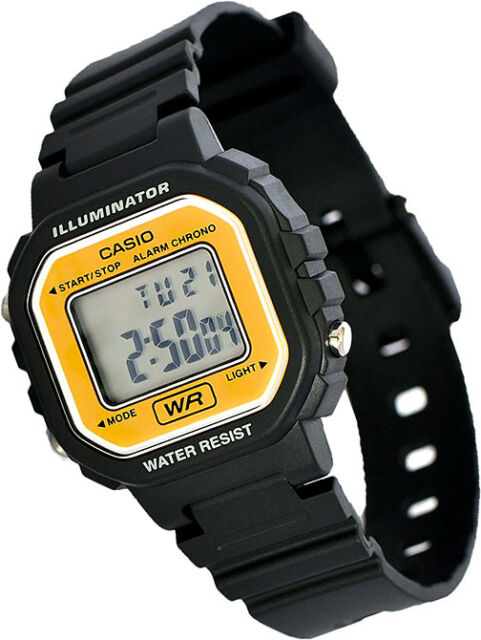 Casio LA-20WH-9A Ladies Gold Digital Watch with LED Light 5 Year Battery