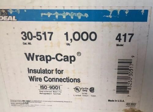 IDEAL 30-517 Wrap Cap Insulator Model 417 1000 Carton-use With 411//412