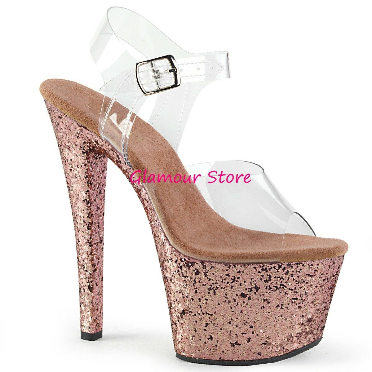 Sexy SANDALI GLITTER a tacco 18 dal 35 a GLITTER 41 disponibil in 10 COLORI plateau scarpe ec9d5e