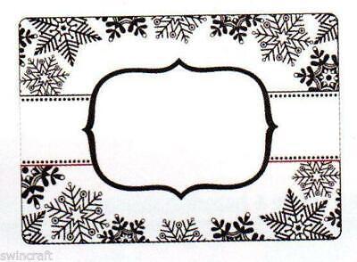 Artesanía demasiado Carpeta De 10,5 Cm X 15cm-Copo De Nieve Banner-ctfd4012