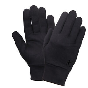 c98a30dbfdb83 Details about glove liner polyester gloves black liners only for increased  warmth rothco 3524