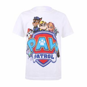 Paw-Patrol-Shield-Characters-Boys-Kids-T-Shirt-Ages-5-10