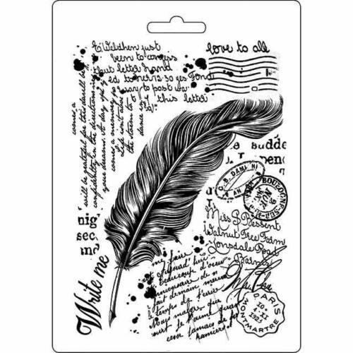 Nouveau Stamperia Doux Moule plume