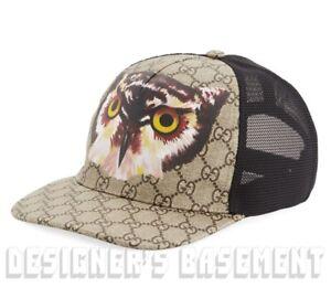 32d6c747a100d GUCCI beige L Supreme GG OWL coated Canvas mesh back Baseball Hat ...