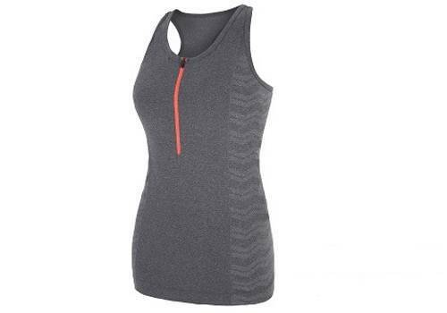 NWT Every Second Counts Women's Grey Marl Relay Vest Size L XL