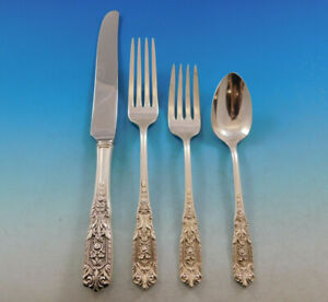 Milburn-Rose-by-Westmorland-Sterling-Silver-Flatware-Set-for-6-Service-24-Pieces