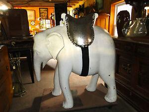 OLD  LARGE  SIZE  WOOD  CARVED  ELEPHANT