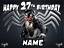 """VENOM INSPIRED 6/"""" TO A3 PERSONALISED CAKE EDIBLE ICING TOPPER"""