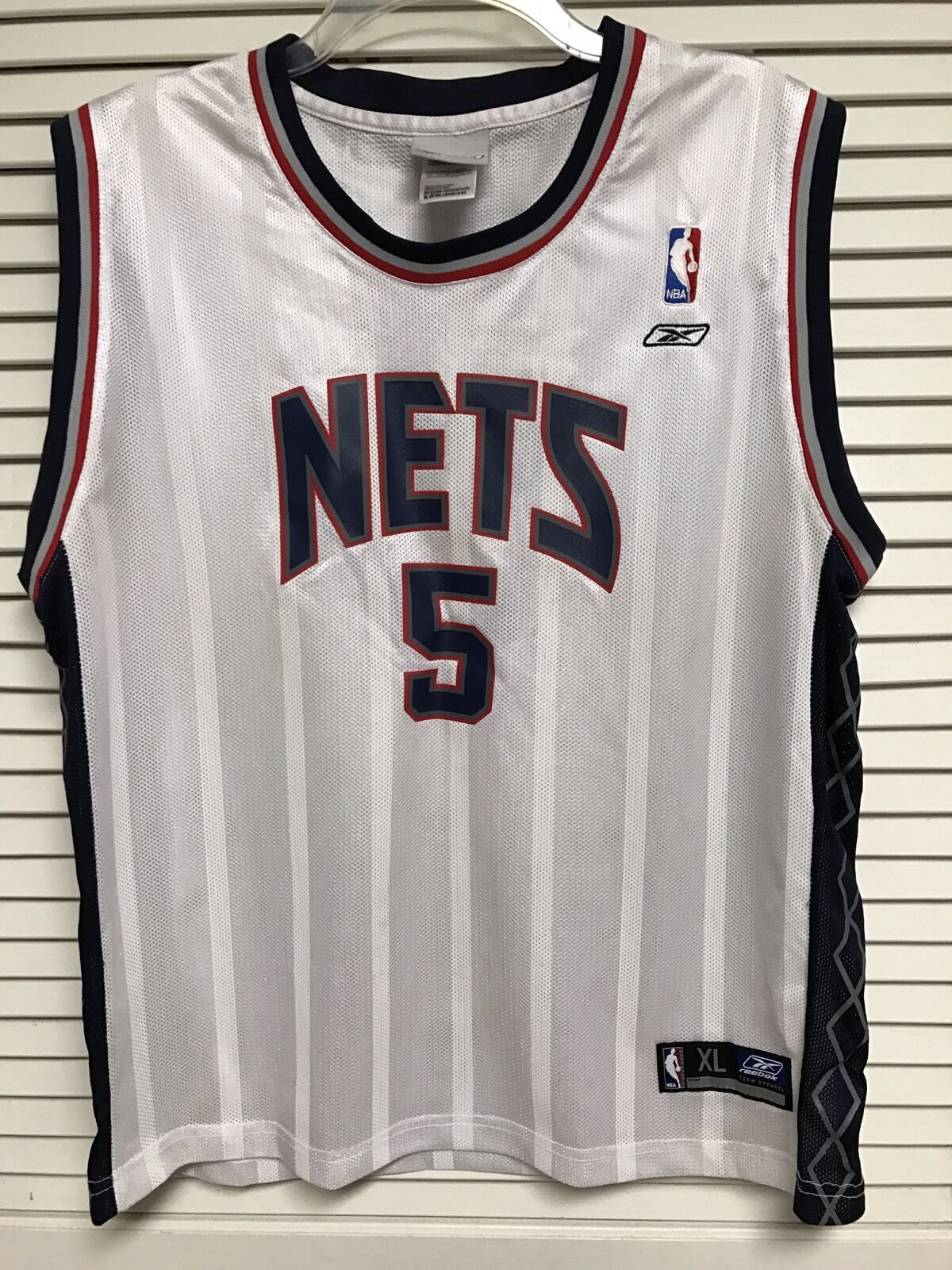 New Jersey Nets Women's REEBOX BASKETBALL JERSEY JASON KIDD NO.5