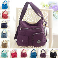 New Womens Convertible Shoulder Bag Backpack Purse Handbag Satchel Multi Pocket