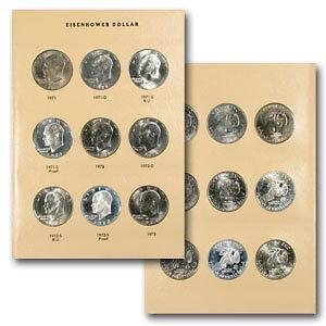 1971-1978 32-Coin Eisenhower Dollar Set BU//Proof Dansco Album SKU #5303